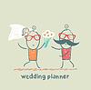 Hochzeitsplaner mit Braut