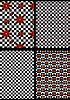 Variationen schwarz-weiß karierten Hintergrund