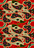 ID 3754998 | Vivid paisley on red seamless background   | Klipart wektorowy | KLIPARTO
