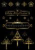 Optionen Gold Weihnachtsbaum und Schneeflocken