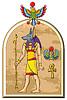 Ägyptischen Gott Anubis