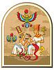 ID 3975126 | Egipski faraon i jego żona | Klipart wektorowy | KLIPARTO