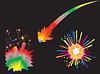 Satz von Urlaub Feuerwerk