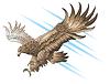 Adler angreifend