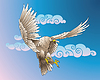 ID 3997728 | Flying Eagle | Stock Vektorgrafik | CLIPARTO