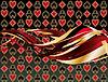 Abstrakt Casino Banner mit Poker-Elemente, Vektor