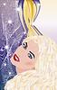 Sexy schöne Mädchen mit langen Haaren, Vektor-Illustration