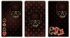 Poker-Karten mit Totenkopf-Muster, Vektor