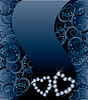 Hochzeitskarte mit zwei Diamant-Herzen