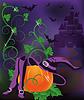 Glückliche Halloween-Karte, Vektor-Illustration