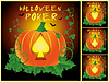 Set Halloween Poker-Karten, Vektor-Illustration