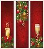 Drei Weihnachts-Banner, Vektor-Illustration