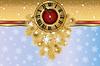 Neujahrskarten Banner mit weihnachten goldene Uhr, Vektor