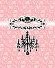 Tarjeta de invitación de boda con la lámpara de lujo en | Ilustración vectorial