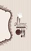 Restaurant Menü-Design mit Spitze Serviette und