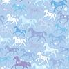 Nahtlose Muster mit wilden Pferden und Schneeflocken