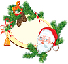 Рождество и Новый год фон - Санта-Клаус | Векторный клипарт