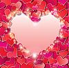 Día de San Valentín `s o de fondo de la boda con Red | Ilustración vectorial