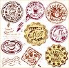 Colección de elementos de diseño - tazas de café de los iconos, | Ilustración vectorial