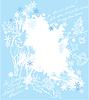 Weihnachten und Neujahr mit blauem Hintergrund