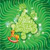 크리스마스 나무 흔들 새 해 카드 | Stock Vector Graphics