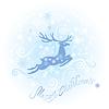 圣诞节和新年卡与驯鹿 | 向量插图