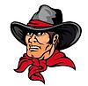 Amerikanischen Cowboy | Stock Vektrografik