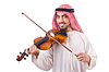 Arabische Mann spielt Musik | Stock Foto