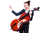 Geschäftsfrau mit violing | Stock Foto