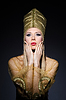 ID 3752159 | Молодая модель в олицетворение красоты египетские | Фото большого размера | CLIPARTO