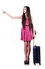 年轻女子准备暑假 | 免版税照片