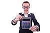 ID 3791969 | 书呆子女会计师计算器 | 高分辨率照片 | CLIPARTO