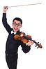 Lustige Geigenspieler | Stock Foto