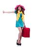 年轻女子准备休假 | 免版税照片