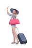 Młoda kobieta przygotowuje się do wakacji | Stock Foto