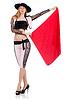 ID 3907608 | Kobieta torreadora na białym | Foto stockowe wysokiej rozdzielczości | KLIPARTO