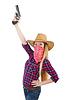 Cowgirl woman with gun | Stock Foto