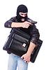 ID 4736065 | Robber with stolen suitcase and gun | Foto stockowe wysokiej rozdzielczości | KLIPARTO