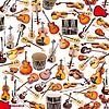 Фон из множества музыкальных инструментов | Фото