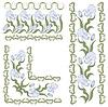 ID 3716961 | Verzierung mit Schwertlilien. horizontale, vertikale Winkel | Stock Vektorgrafik | CLIPARTO