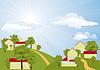 ländliche Sommer-Landschaft