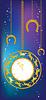 Neues Jahr Hintergrund mit Uhr und Hufeisen | Stock Vektrografik