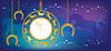 ID 3994898 | Neues Jahr Hintergrund mit Uhr und Hufeisen | Stock Vektorgrafik | CLIPARTO
