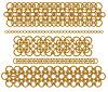 Ketten aus Gold Ringe | Stock Vektrografik