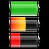 Batterie-Set mit Farbstufen | Stock Vektrografik