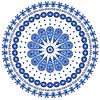 Blau runden Spitzen | Stock Vektrografik