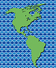 abstrakte Karte von Nord-und Südamerika