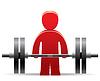 ID 3787449 | Bodybuilder und Gewicht | Stock Vektorgrafik | CLIPARTO