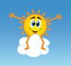 Sonne sitzend über Cloud