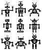eingestellt von Robotern